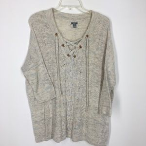 Aerie lace up front sweater